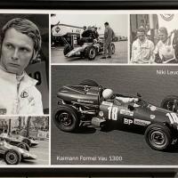 Niki Lauda 1969 mit seinem Kaimann Formel Vau 1300.