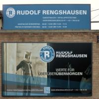 Rudolf Rengshausen: Firmenschild und Werbetafel