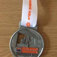 Rudolf Rengshausen Metallspritztechnik beim Business Run: unsere Medaille
