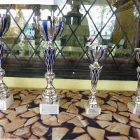 Die Pokale für die teilnehmenden Teams