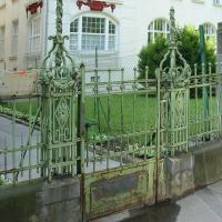 Zaun in der Kupelwiesergasse in Wien: Vorher-Ansicht